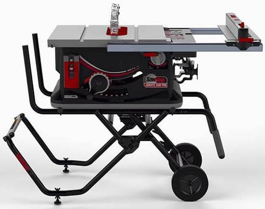 Sawstop 10 inch Jobsite Saw PRO with mobile cart