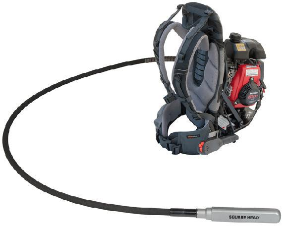 W402-535 Wyco ErgoPack Gas Powered Backpack Concrete Vibrator
