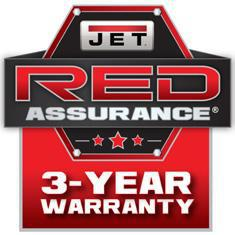 jet 3 year red warranty logo