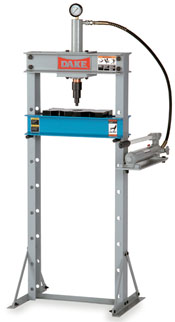 DAKE - HAND OPERATED HYDRAULIC UTILITY SHOP PRESS - 1O TON