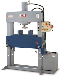 DAKE - DURA PRESS - 3 phase HYDRAULIC SHOP PRESS