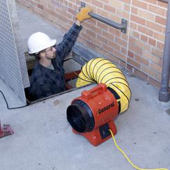 EP8ACP non-hazardous air ventilation blower in use