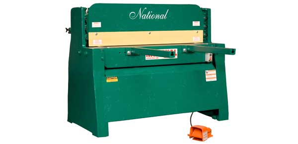 National sheet metal machines hydraulic shears