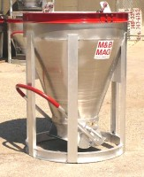 Low Slump Aluminum Concrete Bucket