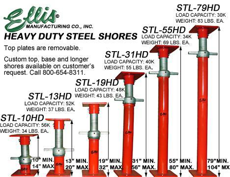 heavy duty steel shores