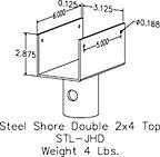 steel shore double 2x4