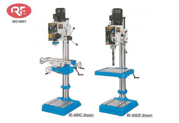 RF-40HC and RF-40S2F 1rong fu heavy duty geared head drill presses
