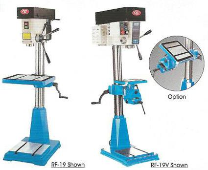 RF-19 and RF-19V Rong fu heavy duty step pullet drill presses