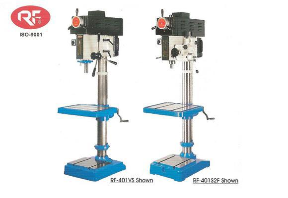 RF-401VS and RF-401S2F infinitely variable speed drill presses