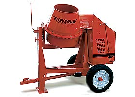 CROWN 1/2 BAG 3 CU FT STEEL DRUM CONCRETE MIXER