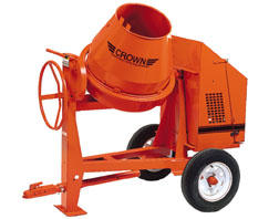 CROWN 1/2 - 1 BAG 6 CU FT STEEL DRUM CONCRETE MIXER