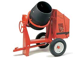 CROWN 1/2 - 1 BAG 6 CU FT POLY DRUM CONCRETE MIXER
