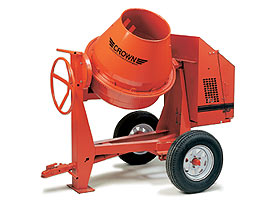 CROWN 1 - 1-1/2 BAG 9 CU FT STEEL DRUM CONCRETE MIXER