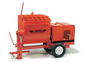 CROWN 1 - 1 1/2 BAG 4 CU FT STEEL DRUM MORTAR MIXER