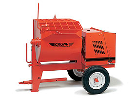 CROWN 3 - 3 1/2 BAG 10 CU FT POLY DRUM MORTAR MIXER