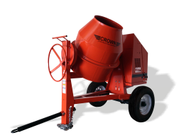 CROWN 1-1/2 - 2 BAG 12 CU FT STEEL DRUM CONCRETE MIXER