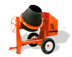 CROWN 1 - 1-1/2 BAG 9 CU FT poly DRUM CONCRETE MIXER