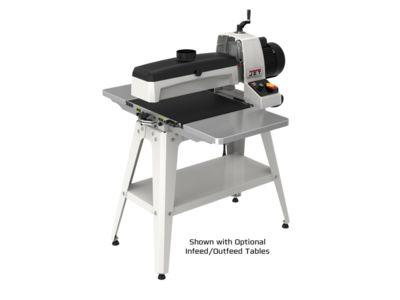 18-36 Drum Sander with Stand. shown with optional infeed outfeed tables