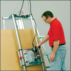 panel saw in use