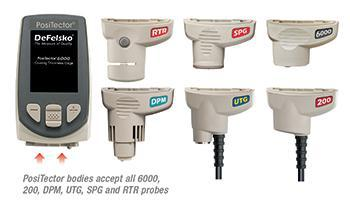 positector bodies accept all 600, 200, dpm, utg, spg, and rtr probes