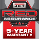 jet warranty logo 5 years