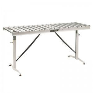 HTC HRT-90 66-INCH LONG 22-INCH WIDE ADJUSTABLE FOLDING CONVEYOR TABLE