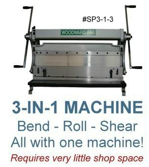 Woodward Fab 3 in 1 combo shear, roll, bender