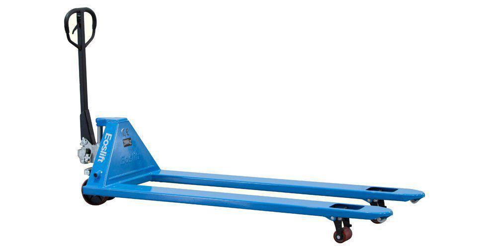 eoslift super long fork pallet trucks 4400 lbs