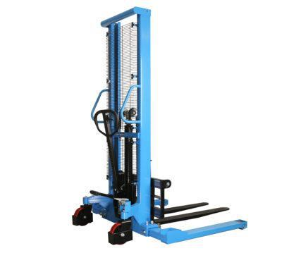 eoslift manual stacker with adjustable leg