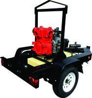 QP4TK Pump mounted on Multiquip TRLRMP Trailer w/ 16 GAL fuel cell