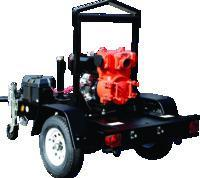 QP4TK Diesel Pump on a Multiquip TRLRMPXFP Trailer w/ 28 GAL fuel cell