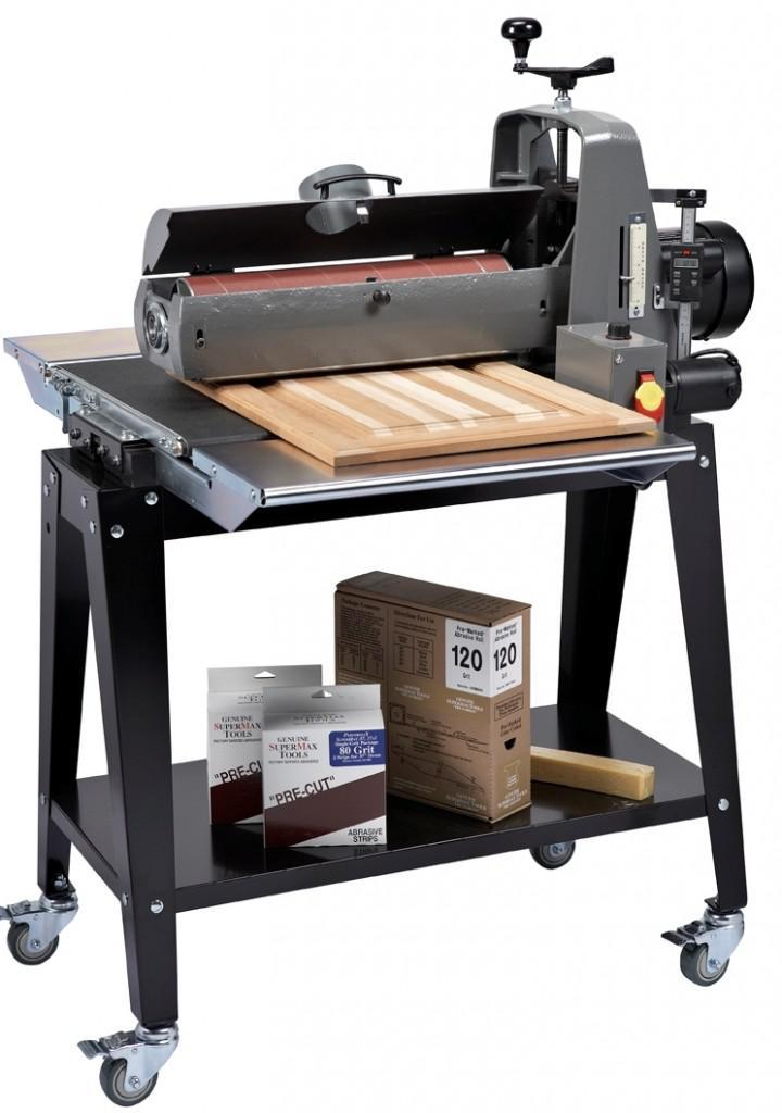 supermax 19 inch open sided drum sander