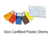 Non-Certified Plastic Shims