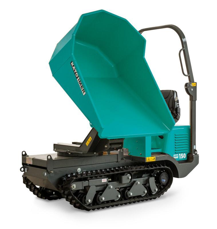 Carry 150 diesel engine, 180° swivelling skip