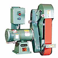 Burr King 960-400 2-Wheel Belt Grinder - 4 x 60
