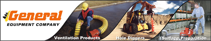 General Equipment Hole Digging Earth Augers Logo