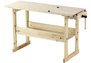 solid pine hobby workbench