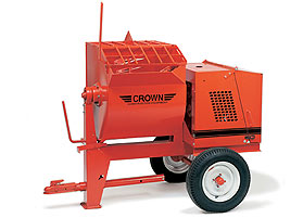 CROWN 2 1/2 - 3 BAG 8 CU FT STEEL DRUM MORTAR MIXER
