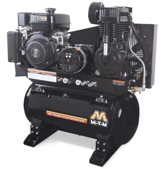 Mi T M 30 Gal Two Stage Air Compressor Generator