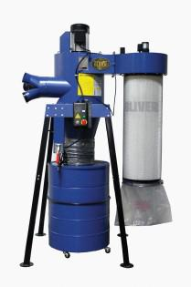 Oliver 3 HP / 2100 cfm Cyclone with Canister Dust Collector