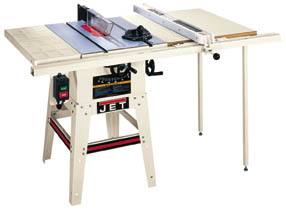 Jet 10 Contractor Style Tablesaw