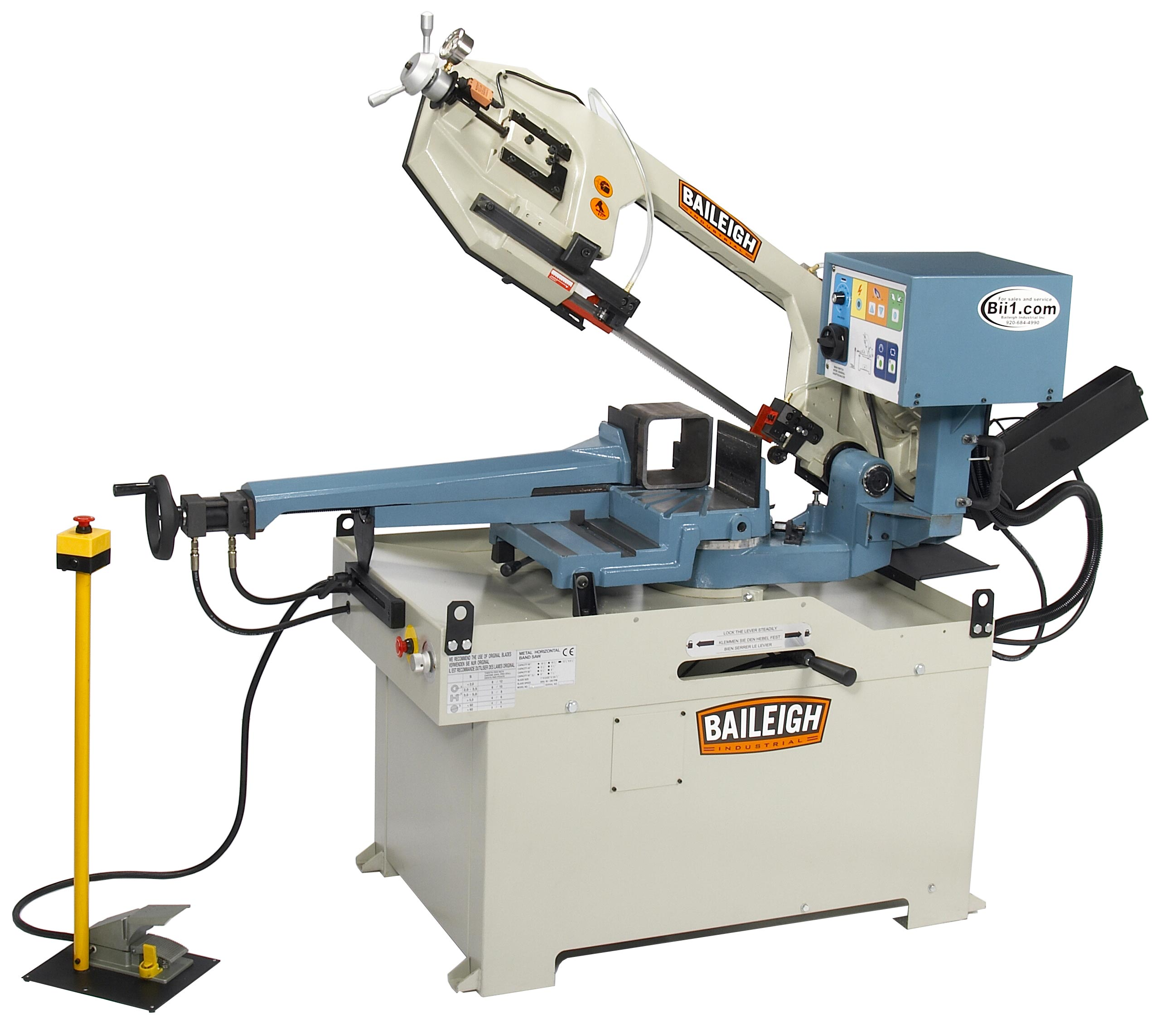 Baileigh Gear Driven Dual Miter Band Saw Bs 350sa