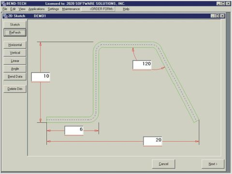 Baileigh Tube Bender Layout Software