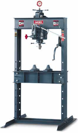 HAND OPERATED hydraulic H-FRAMe shop PRESSES